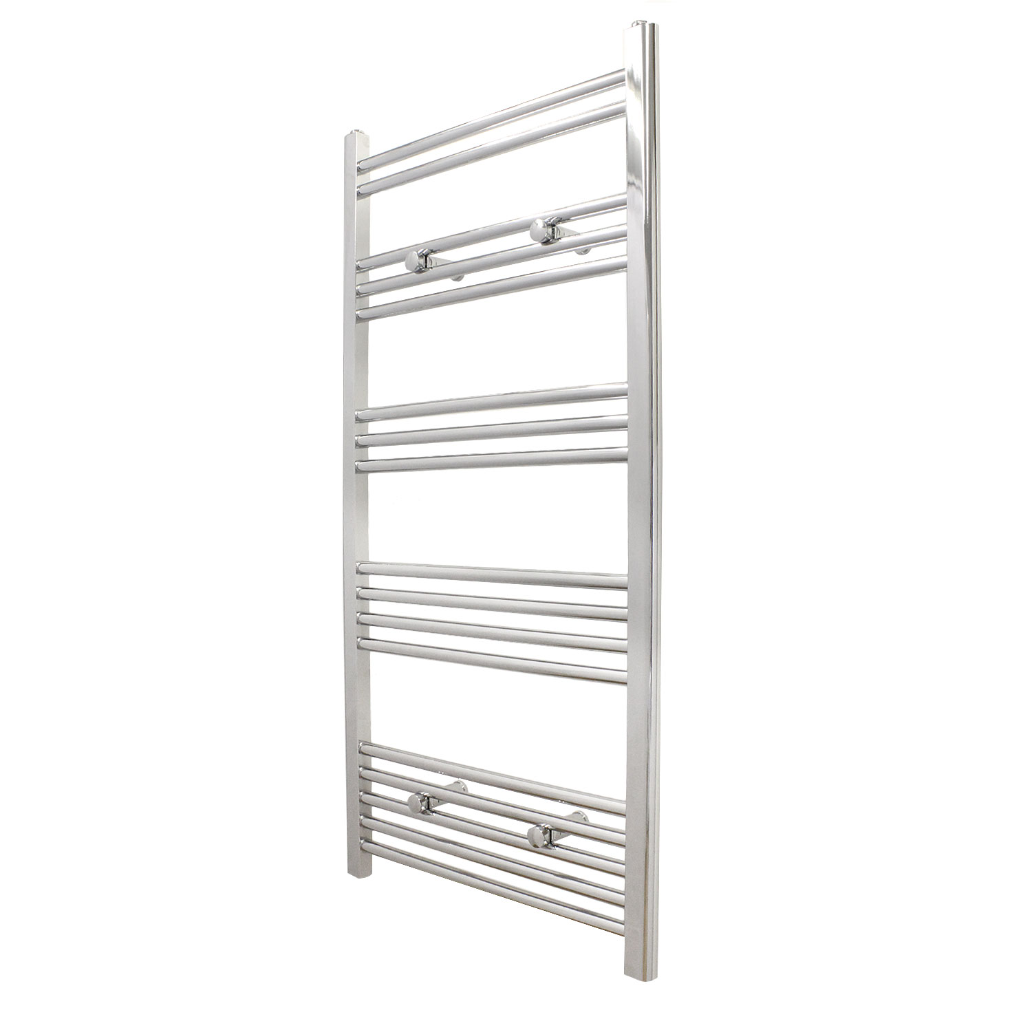 arian 1200 x 600mm straight central heated or electric bathroom towel warmer radiator